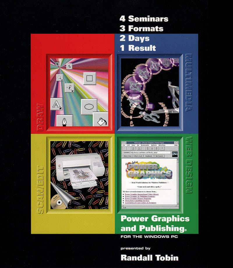 Power Graphics and Publishing Training Materials Binder Cover 1995-1996