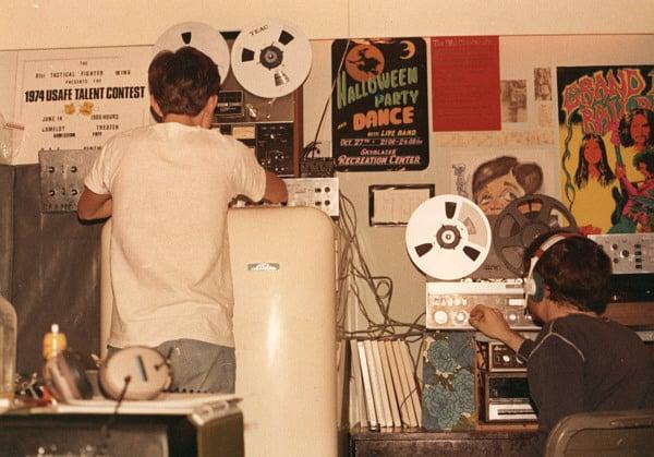 RMT and Doug in Barracks Studio Bitburg, Germany