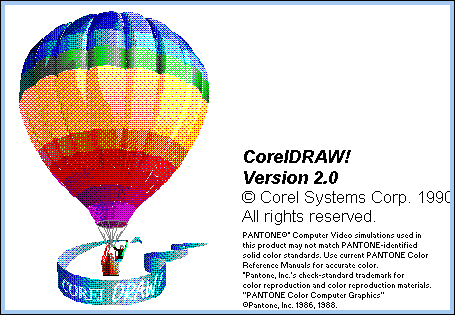 "CorelDRAW 2 ""About"" Screen"